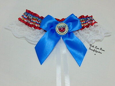 Transformers Bridal Wedding Garter. Robots in disguise