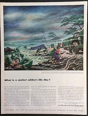 1948 U.S. ARMY/AIRFORCE RECRUITING SERVICE Print Ad, Japanese Typhoon