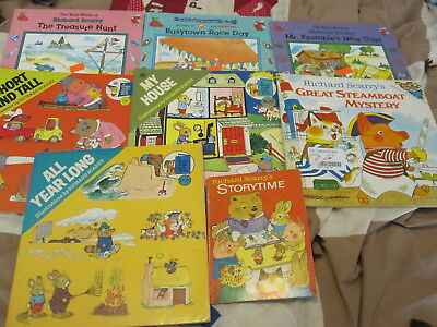 Lot of 8 Vintage Richard Scarry Picture Books