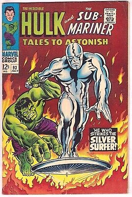 Tales To Astonish#93 Fn-Vf 1967 Marvel Silver Age Comics
