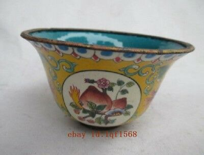 The old Chinese cloisonne peach bowl