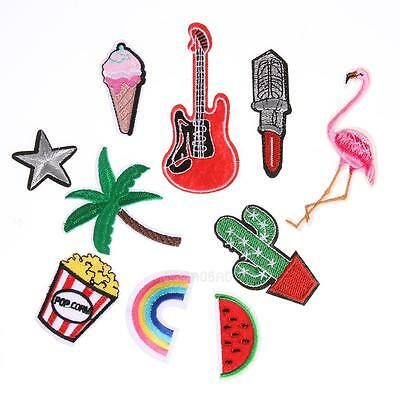 10pcs Mixed Applique Embroidery Patch Sticker Iron On Sew Cloth Patch DIY