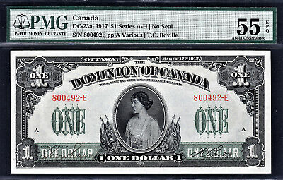 Canada 1917 One Dollar BC-23a Series- E About UNC PMG 55 EPQ