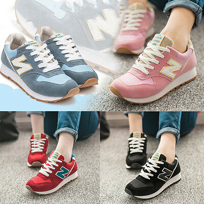 Hot Fashion women/girls running lightweight casual sports leather trainers shoes