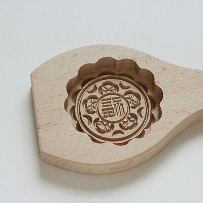 Fondant Mold for Mooncake Muffin Chinese Blessing Word Pattern - Fourtune