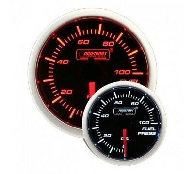 ProSport 52mm Electrical 'Performance' Fuel Pressure Gauge - Amber/White