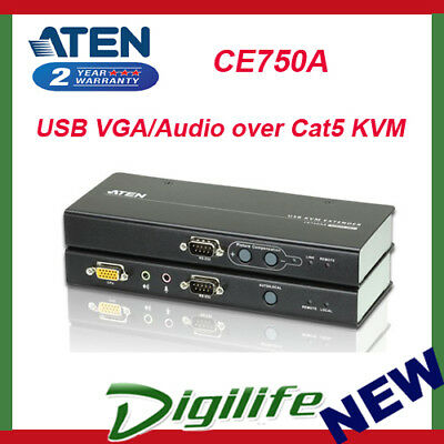 ATEN CE750A USB VGA/Audio over Cat5 KVM Extender - 1280x1024 at 200m CE-750A
