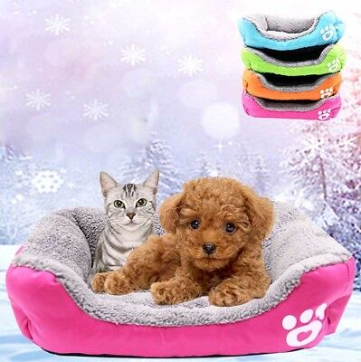 Dog Puppy Pet Warm Soft Kennel Bed Cat Cushion House Pet Dog Blanket Mat