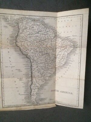 Antique Map of South America 1850's Era