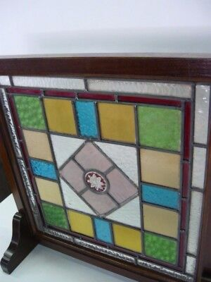 Antique Stained glass  British Victorian Edwardian  1910's Free Shipping
