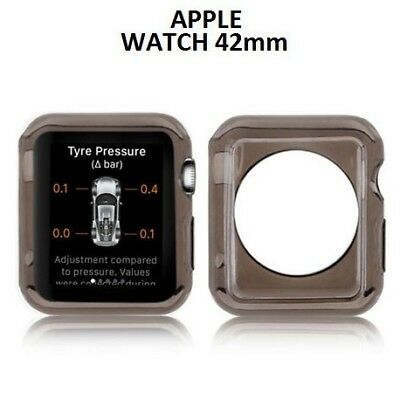 COMPATIBILE APPLE CUSTODIA GEL TPU SILICONE per APPLE WATCH 42MM COLORE NERO TRA