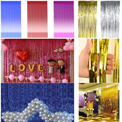 Metallic Fringe Curtain Party Foil Tinsel Room Door Wholesale Wedding Home Decor
