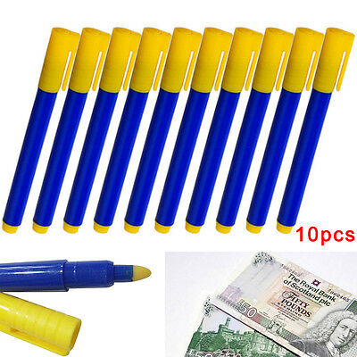 10x Money Tester Pen Counterfeit Bank Note Detector Pens - Same Day Dispatch