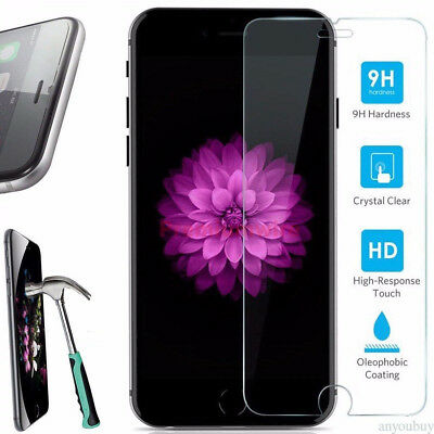 For iPhone 5s/6/6s/7/8 9H Tempered Crystal Clear Tempered Glass Screen Protector