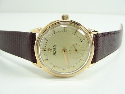 OMEGA AUTOMATIC KAL. 344 BUMPER 750er/18kt. GOLD VINTAGE MENS WATCH OROLOGIO TOP