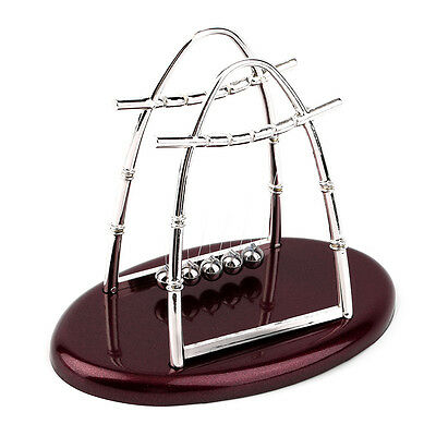 Hot Newtons Cradle Steel Balance Ball Physics Science Pendulum Desktop Gift OB