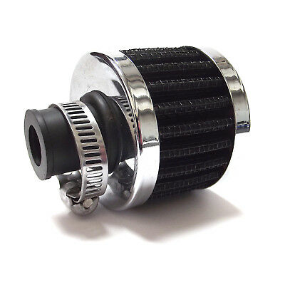 Universal AIR BREATHER FILTER - Black 16mm Neck & Clamp