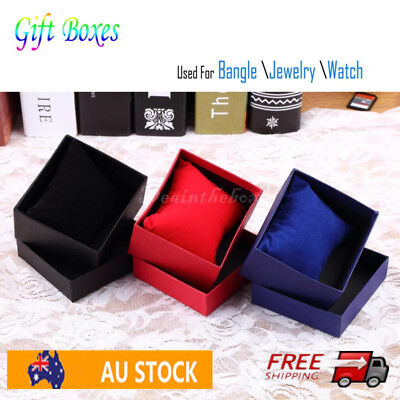 Present Gift Boxes Case For Bangle Jewelry Ring Earrings Wrist Watch Box OA