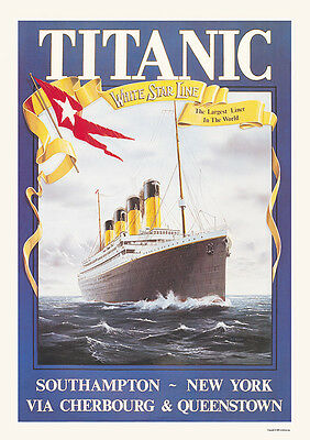 Titanic Vintage Advertising  Picture Poster Print A1 & A3+ 4 Variations