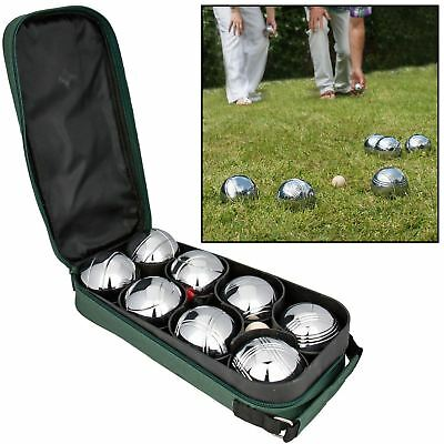 New Set 8 Balls Steel Boules Petanque French Bag Summer Fun Party Game Outdoor