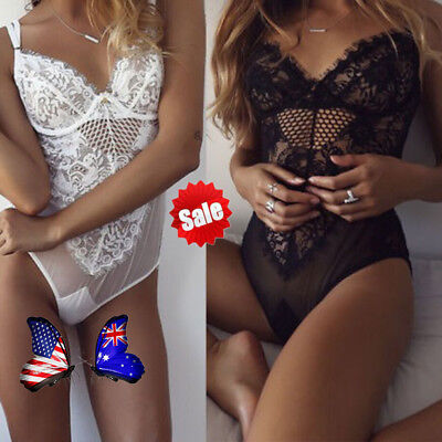Sexy.Lingerie Lace Dress Babydoll Women's Underwear Nightwear Sleepwear BodysuOA