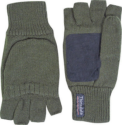 Jack-Pyke Suede Palm Shooters Mitts One Size Acrylic/Thinsulate Fingerless Glove