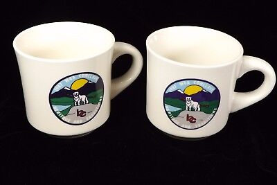 2 Vintage Boy Scouts Coffee Mugs 1987 W4A Conclave Heritage and Traditions