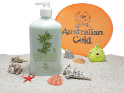 46,54€/1L Australian Gold - Hemp Nation Sea Salt & Sandelwood - after Sun- 535ml