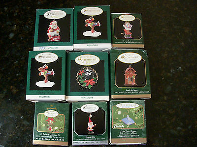 Lot group collection ~ Hallmark Miniature Ornaments ~ Collector's Club