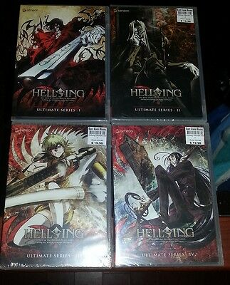 Hellsing Anime collector DVD full set Ultimate Series 1-4