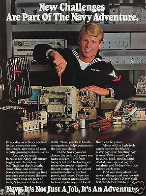 1983 Print Ad of US Navy Recruiting Specialist