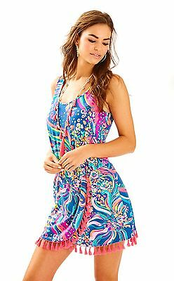 4de7685877fa  188 LILLY Pulitzer Colby Long Sleeve Romper Lapis Blue COSTA VERDE ...