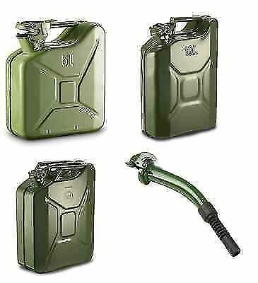 New 20L Metal Military Jerry Can Gas Tank Car Petrol Diesel Fuel Pouring Water