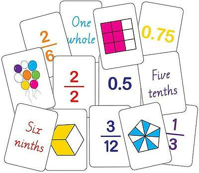 Fractions Snap Flash Cards Games Maths Teacher Resources Education School