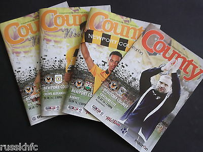 Newport County 2016/17 Home Programmes Choose From