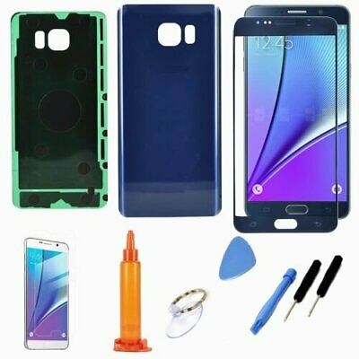 Blue Replacement  Front Screen Back Battery Glass Case For Samsung Galaxy Note 5