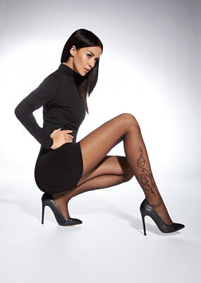 "Sexy Patterned Tights By Adrian ""Arlette""- Floral Tattoo Pattern"