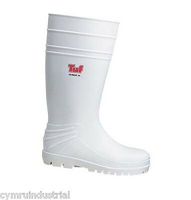 Tuf Food Industry White Safety Wellington Boots - Food, Hospital, Medical, Dairy