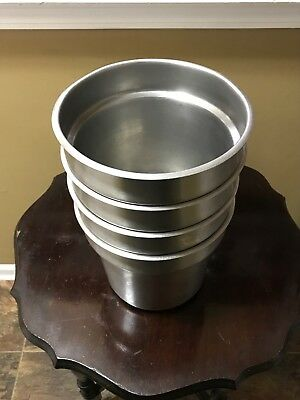 3 Commercial  stainless steel food soup warmers