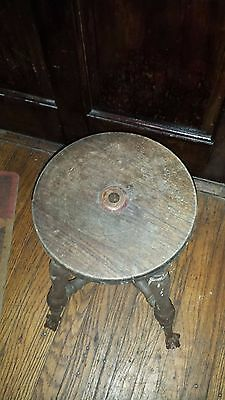 Vintage / Antique Piano Stool with Claw Feet
