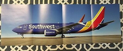 Rare Southwest Airlines Boeing 737 MAX8 Aircraft Poster
