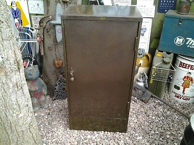 Vintage industrial roneo metal cabinet + key collect only birmingham b26