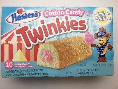 New HOSTESS COTTON CANDY LIMITED EDITION TWINKIES Box Of 10