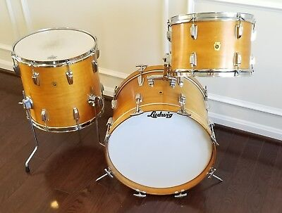 Vintage Ludwig Jazzette Thermogloss 1968 three piece kit all original!