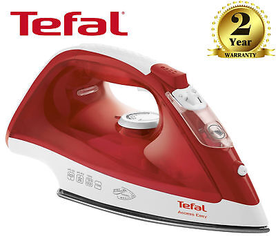 Tefal FV1533 Red/White Access Easy 2100W Anti-Scale Ceramic Soleplate Steam Iron