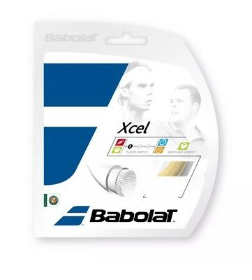 R1.    Babolat Xcel FO 12m Set String GAUGE 16/1.30 made in France Black