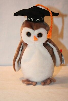 82ac586039b TY BEANIE BABY ~ SMARTY the Owl ~ Internet Exclusive ~ MINT with ...