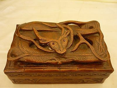 Vintage/Antique Chinese Carved Box With Dragon