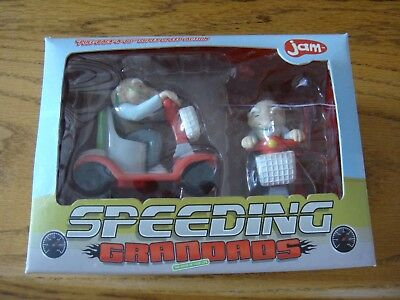 NEW JAM SPEEDING GRANDADS PULL BACK RACING CAR SCOOTERS Toys