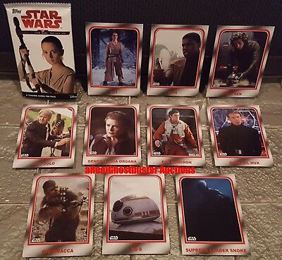 Topps Star Wars Journey to Last Jedi Complete 10 Card Choose Your Destiny Set